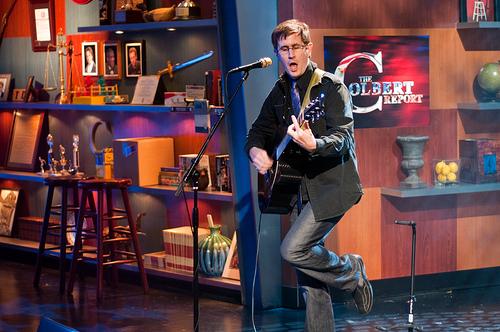 John on set